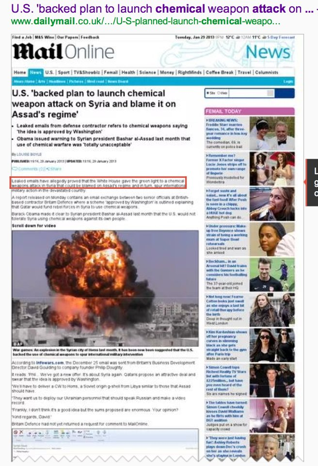 Us backed plan to launch chemical weapon yahoo dating