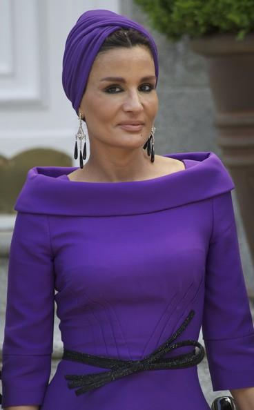Spanish+Royals+Receive+Emir+State+Qatar+Sheikha+8CA--_YddC_l