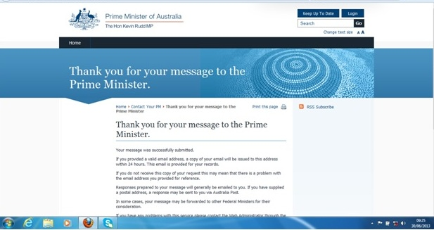 Email to PM