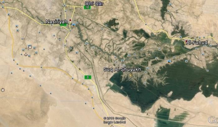 Area of dumps - Google Earth